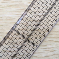 Patchwork Ruler With Iron Edge Quilting Tools Quilting Ruler Tailor Ruler 30*15*0.3cm Acrylic Material Sewing Tools Accessory