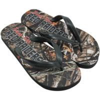 Texas Tech Red Raiders Camo Print Flip Flops - Black/Forest Camo
