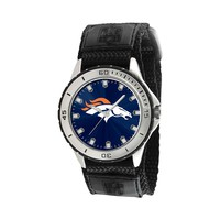 Game Time Veteran Series Denver Broncos Silver Tone Watch - NFL-VET-DEN (Black)