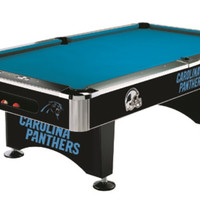 Carolina Panthers 8' Pool Table