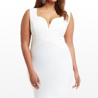 Plus Size Sweetheart Necklace Dress | Fashion To Figure