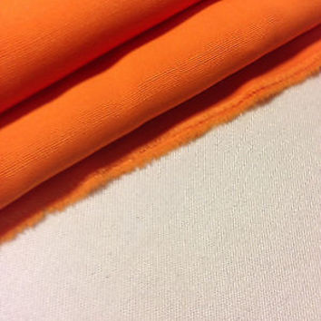 "60"" Orange Rayon Acetate Faille Woven Fabric By the Yard"