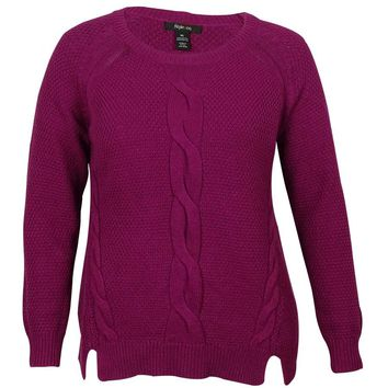 Style & Co Women's Front Cable-Knit Detail Sweater