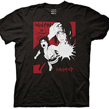 Naruto Shippuden Itachi & Sasuke with Kanji Graphic T-Shirt