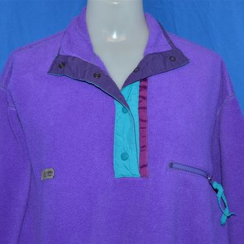 90s Columbia Purple Fleece Pullover Jacket Women's Medium