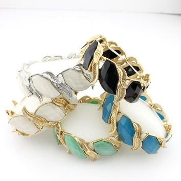 Jewelries Korean Fashion Wild Exaggerated Alloy Bracelets Leaf Bracelet Promotion Japan and South Korea Small Jewelry Jewelry FF