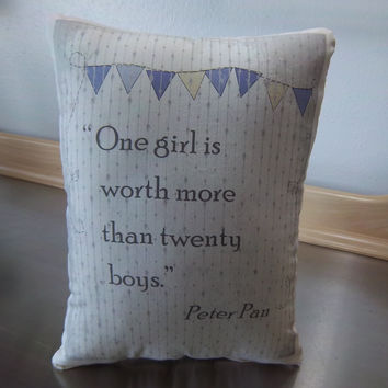 Wendy pillow Peter Pan gift friend birthday gift throw pillow