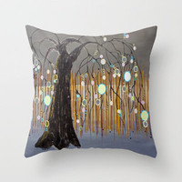 :: Willow Sunset ::  by Gale Storm Throw Pillow by GaleStorm Artworks | Society6