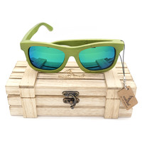 BOBO BIRD 4 Lens Handmade Bamaboo Sunglasses Polarized Real Wooden Sun Glasses Woman Fashion Gift Items with Wood Box 2017