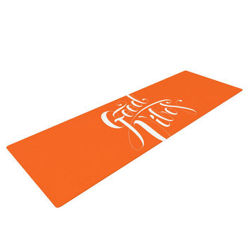 "Roberlan ""Good Vibes"" White Orange Yoga Mat"