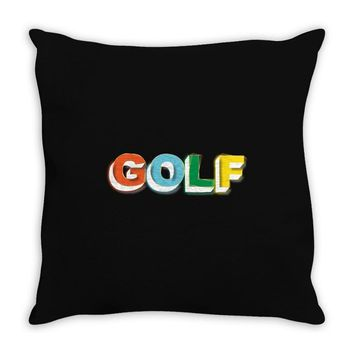 golf 3d Throw Pillow