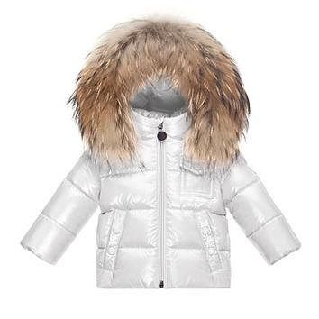 Moncler K2 Hooded Fur-Trim Puffer Coat, Size 12M-3