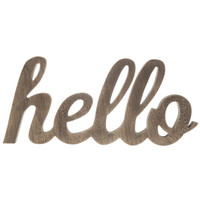 Chunky Wood Hello Sign | Hobby Lobby | 1125673