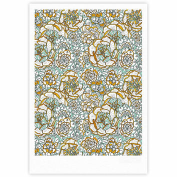 "Pom Graphic Design ""Succulents Paradise"" Black Gold Vintage Illustration Fine Art Gallery Print"