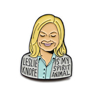 Leslie Knope Parks and Recreation enamel lapel pin