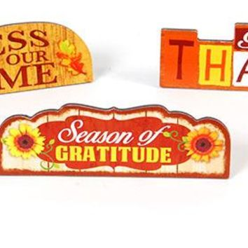 Harvest and Autumn Plaques with Stand - CASE OF 12