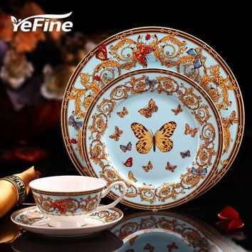 Luxury England Butterfly Dinnerware Set