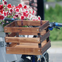 Walnut bike basket