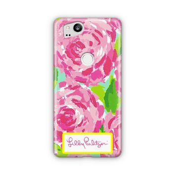 Lilly Pulitzer First Impression Rose Inspired Google Pixel 3 XL Case | Casefantasy