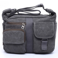 Fashion unsex  men Retro Women Large Capacity Canvas Totes Bag (Color: Army green) = 1697290756