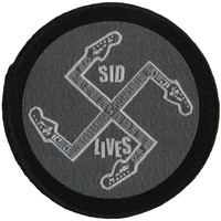 Sex Pistols Men's Sid Lives Screen Printed Patch Black
