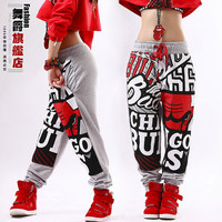 2015 New fashion  Adult jogging pants joggers star Sweatpants Costumes sports harem Hip hop dance practice pants