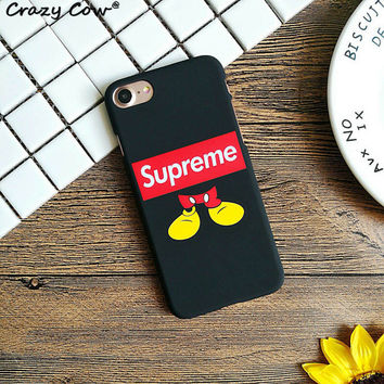 Supreme Micky Feet Hard Phone Case All iPhone Models 7 7Plus 6 6s Plus 5 5s SE