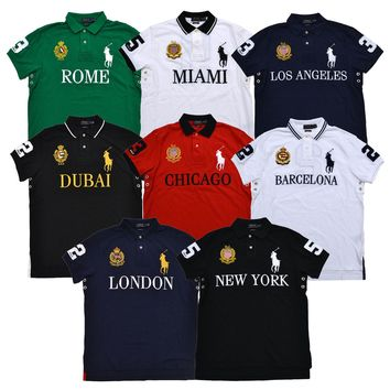 Polo Ralph Lauren Big Pony Polo Shirt Men's Custom Fit Mesh Pique Knit City Nwt