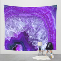 purple stone Wall Tapestry by Haroulita