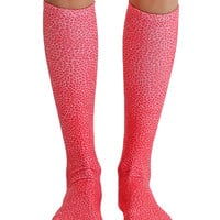 Pebble Red Knee High Socks