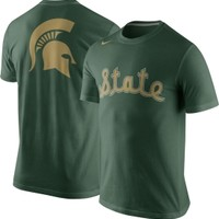 Nike Men's Michigan State Spartans Green Basketball Uniform T-Shirt