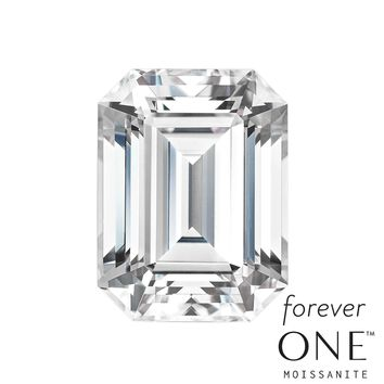 Forever One Emerald Cut Loose Moissanite