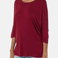 Women's Topshop Oversized Maternity Tee, Size 6 - Burgundy