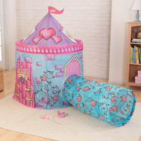 KidKraft Castle Tent with Tunnel in Pink