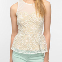 Urban Outfitters - Pins And Needles Daisy Peplum Tank Top