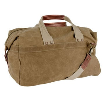 J.Fold Tan Roadster Duffel Bag