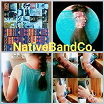 Native Band Co. Ponytail Holders Bracelet, for Men and Women with Straight Thick or Curly Hair...