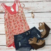 Sheerly Floral Tank