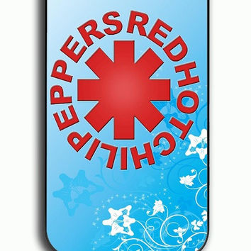 iPhone 4S Case - Rubber (TPU) Cover with Red Hot Chili Peppers 2 Rubber Case Design