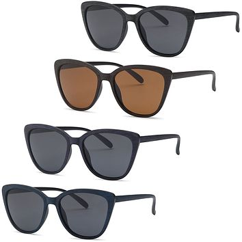AFONiE Cat Eye Wood Texture Frame Sunglasses for women - 4Pack