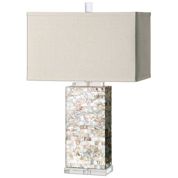 Aden Capiz Shell Table Lamp by Uttermost
