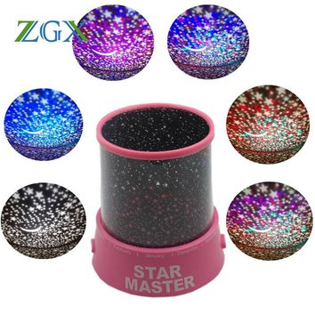 LED Starry Sky, Stars, Moon Night Light USB Projection Lamp 2 Colors