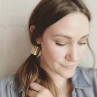 Golden Brass Ponytail Cuff. Modern. Simple. Hair Accessory. Metal Cuff. Ponytail Holder. Boho. Edgy. Gold Hair Cuff. Minimal.