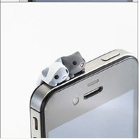 1pc Cheese Twins Cat 3.5mm Anti Dust Earphone Jack Plug Stopper Cap for Iphone HTC