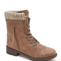 Qupid Knit Top Work Boots at PacSun.com
