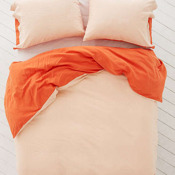 Reversible Linen Blend Duvet Cover | Urban Outfitters