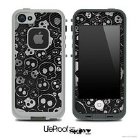 Layered Dark Skull Skin for the iPhone 5 or 4/4s LifeProof Case