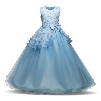 Flower Girl Long Dress Christmas Party Wear