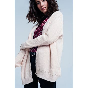 angora cardigan with long sleeves