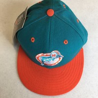 MIAMI DOLPHINS RETRO NEW ERA 5950 FITTED HAT ORANGE BRIM